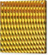 Yellow Curve Acrylic Print
