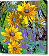 Yellow Daisies Acrylic Print by Doris Wood