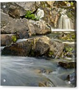Yellow Dog Falls 4246 Acrylic Print by Michael Peychich