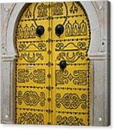 Yellow Door In Bardo Acrylic Print