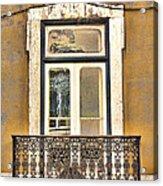 Yellow Facade And Window Acrylic Print
