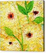 Yellow Flowers Laugh In Joy Acrylic Print by Ashleigh Dyan Bayer