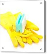 Yellow Gloves Acrylic Print