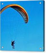 Yellow Hang Glider Acrylic Print