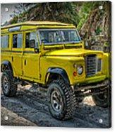 Yellow Jeep Acrylic Print