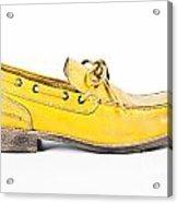 yellow Mens shoe Acrylic Print