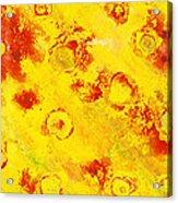 Yellow Mud Bubbles Acrylic Print