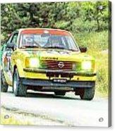 Yellow Opel Acrylic Print
