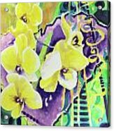 Yellow Orchids Of The Heart Acrylic Print
