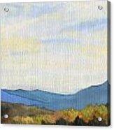 Yellow Ridge Acrylic Print