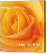 Yellow Rose Birthday Card Acrylic Print