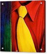 Yellow Silk Tie Acrylic Print