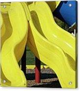 Yellow Slides Acrylic Print