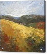 Yellow Slope II Acrylic Print