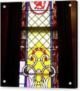 Yellow Stained Glass Window Acrylic Print