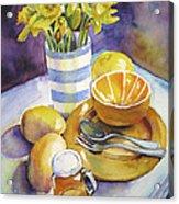 Yellow Still Life Acrylic Print