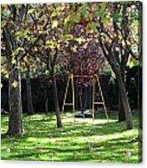 Yellow Swingset Acrylic Print