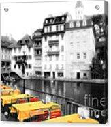 Yellow Tablecloths Acrylic Print