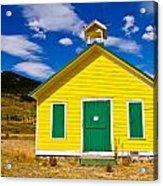 Yellow Western School House Acrylic Print