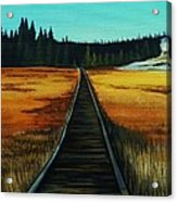 Yellowstone Boardwalk Acrylic Print