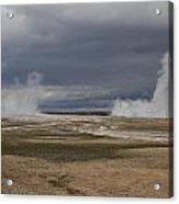 Yellowstone Geysers2 Acrylic Print by Charles Warren