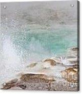 Yellowstone Hot Pool Acrylic Print
