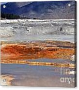Yellowstone National Park Geothermal Reflections Acrylic Print