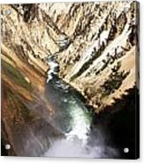 Yellowstone River Below Lower Falls Acrylic Print
