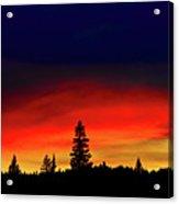 Yellowstone Sunset Acrylic Print by Bill Gracey
