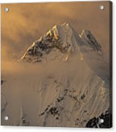 Yerupaja Summit Ridge 6617m At Sunset Acrylic Print