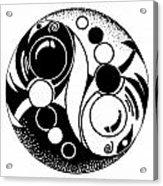 Yin And Yang Fish Design Acrylic Print