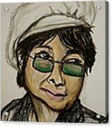 Yoko Acrylic Print by Pete Maier