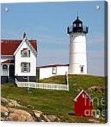 York Harbor  Nubble Lighthouse Acrylic Print