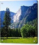 Yosemite Falls From The Ahwahnee Acrylic Print
