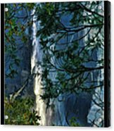 Yosemite Falls Through Trees Acrylic Print