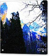 Yosemite Snow Top Mountains Acrylic Print