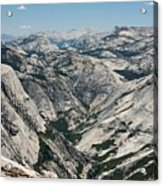 Yosemite Valley, View From Half Dome Acrylic Print