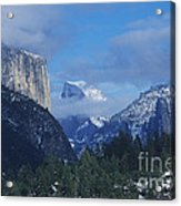 Yosemite View In Snow Acrylic Print