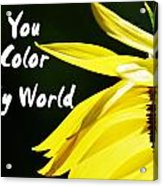 You Color My World Acrylic Print