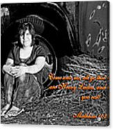 You Shall Find Rest Acrylic Print