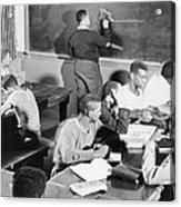 Young African American Men Receiving Acrylic Print