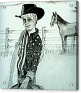 Young Cowboy Acrylic Print by Carolyn Ardolino