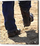 Young Cowboy With Spurs Acrylic Print
