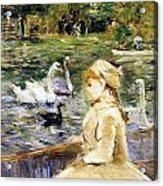 Young Girl Boating Acrylic Print by Berthe Morisot
