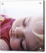 Young Girl Sleeping Acrylic Print