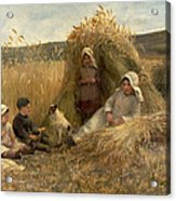 Young Harvesters Acrylic Print by Lionel Percy Smythe