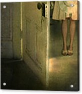 Young Lady By Open Door Acrylic Print