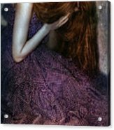 Young Lady Crying Acrylic Print