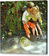 Young Love Barbie and Ken Acrylic Print