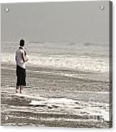 Young Man And The Pacific Ocean Acrylic Print